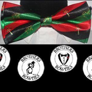 Afro Pan African bowtie, Black Pride RBG bowtie